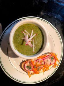radish top soup